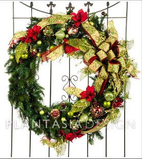 Baroque Chartreuse Wreath from Plantasia Interiors