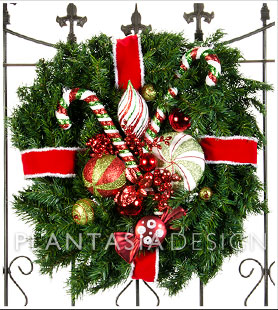 Candyland Wreath from Plantasia Interiors